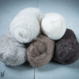 Carded fleece in natural colours