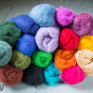 Dyed carded fleece